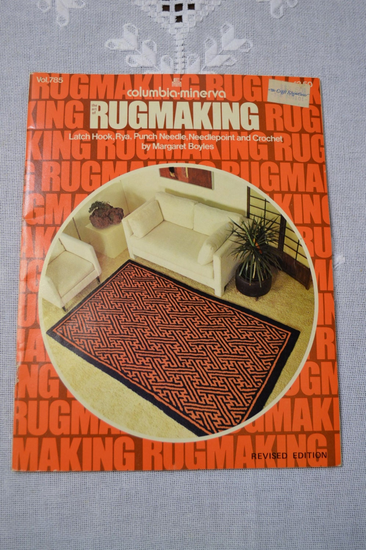 Vintage Columbia Minerva Rug Making Booklet 1974 Craft