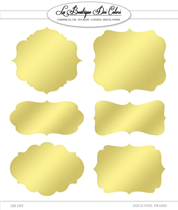 Delicate image within gold printable labels