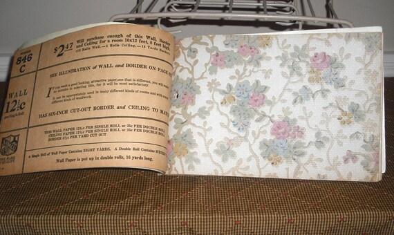 SALE Old Vintage Wallpaper Sample Book 20 samples 6 X