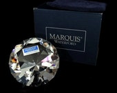 Waterford Crystal Paperweight Marquis Solitaire DIAMOND Shaped EXCELLENT
