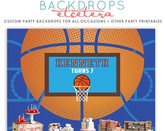 Basketball Backdrop, Basketball banner, Sports Party, Sports Printables