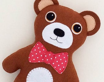 Teddy Bear PDF Sewing Pattern and Tutorial, Instant Download, Easy Step-by-Step Instructions