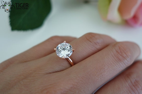 Carat Diamond Solitaire Engagement Ring