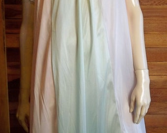 Vintage Lingeri 1960s LADY CAMILLE Small Nightgown Pink Lavender Green