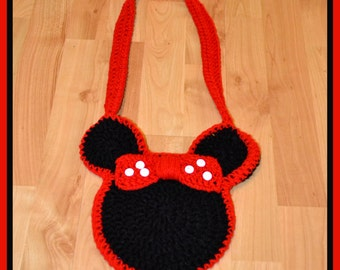 Crocheted Minnie Mouse Purse