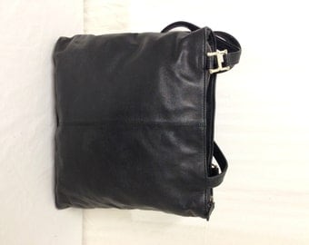 Banana Republic,black Leather, Shoulder Bag, Purse,bag, Tote