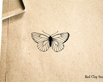 Butterfly Rubber Stamp - 2 x 2 inches