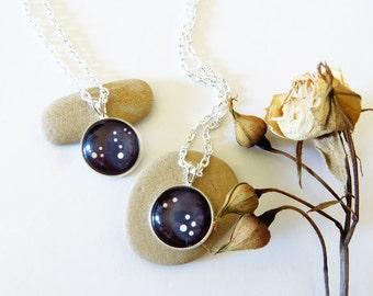 Zodiac Necklace, Zodiac Constellation, Birthday Necklace, Personalized Birthday Necklace, Zodiac, June Birthday, July Birthday