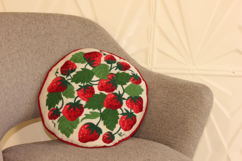 Modern Retro Pillows : RETRO NEEDLEPOINT PILLOW Decorative Throw Mid-Century Modern