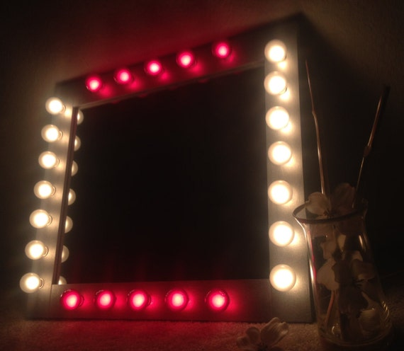 Lighted vanity mirror called the Royal Queen. A by WoodUBeMine