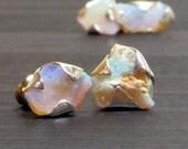 Australian Opal studs Raw Opal studs Opal jewelry Dainty earrings Natural Opal studs Dainty Opal earrings Raw stone studs Crystal studs