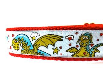 Dragons dog collar/ Adjustable dog collar