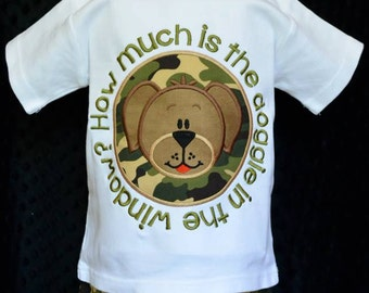 Personalized How Much is that Doggie in the Window? Applique Shirt or Onesie Boy or Girl