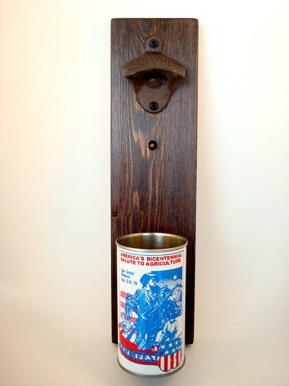 Wall Mounted Bottle Opener Featuring A Vintage By