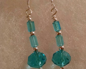 Blue Glass Beaded Earrings Item No. 44
