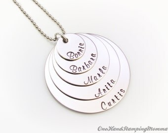 Hand Stamped Necklace - Personalized Necklace - Mom Necklace - Mother Necklace - Personalized Hand Stamped Necklace - Grandma Necklace