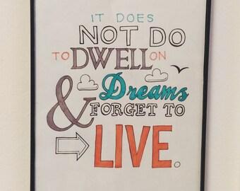 Dumbledore dreams quote (print)