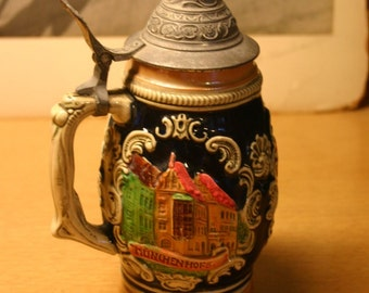 1960's 8 Inch West Germany Beer Stein Bought In Germany While My Father Was In The Army in the Early 1960's. Perfect Condition!