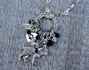 Boston Terrier Necklace, Boston Terrier Jewelry