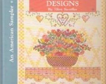 Country Cross-Stitch Designs by Ellen Stouffer (1990) - Hardbound Book - Crpss-Stitch Patterns - Instructions and Charts