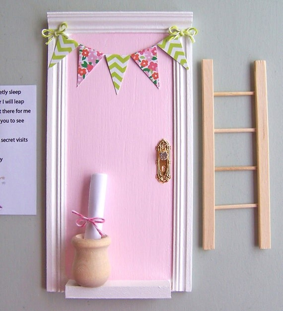 Magic tooth fairy door with little wooden pot perfect for a for The little fairy door