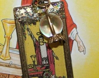 The Magician Tarot card Rustic Necklace