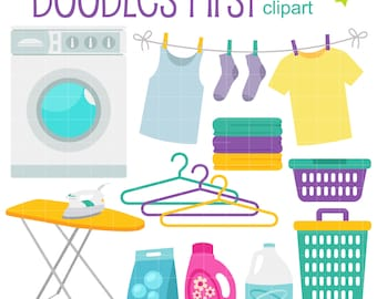 Laundry Room Clip Art for Scrapbooking Card Making Cupcake Toppers Paper Crafts