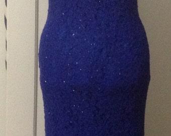 Vintage Bombshell Lurex Shot lace Evening Dress
