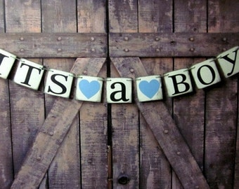Baby Shower Banners ITS A BOY Signs Baby shower signs Rustic baby shower decorations