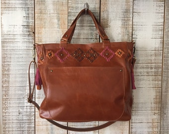 Leather bag, Caramel leather purse, large handbag crossbody, brown shoulder bag