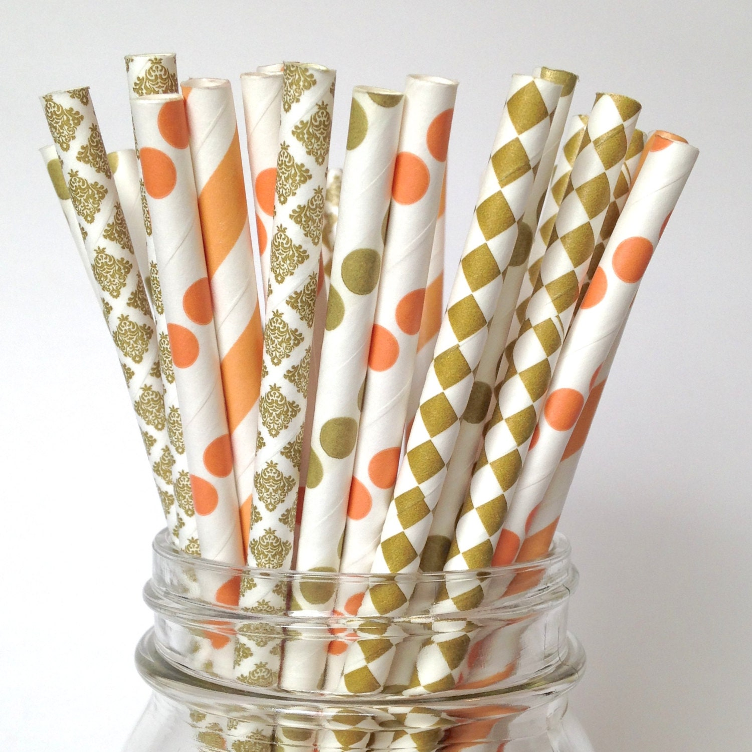 decorative straws for weddings coral gold wedding decor coral straws for baby shower bridal 3463