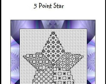 Blackwork Embroidery Kit ~ 5 Point Star