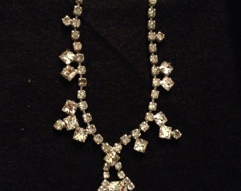 Vintage Chunky Rhinestone Choker Necklace