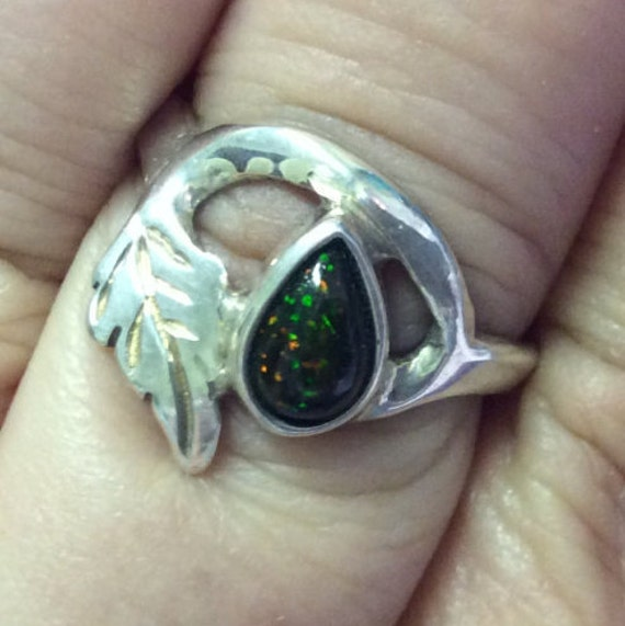 Items Similar To Opal Ring Exquisite Braided Opal: Items Similar To Black Ethiopnian Opal Ring, Pear Opal