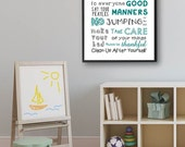 Items Similar To Kids Room Decor Bedroom Rules Kids Room