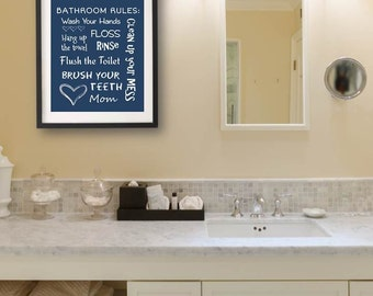Kids Bathroom Art Decor Bathroom Artwork Printable Art Print Instant Download Bathroom Wall Quote Sign Bathroom