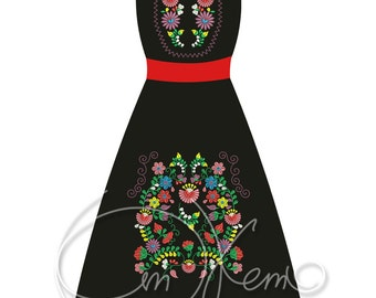 MACHINE EMBROIDERY FILE - Your own Mexican dress
