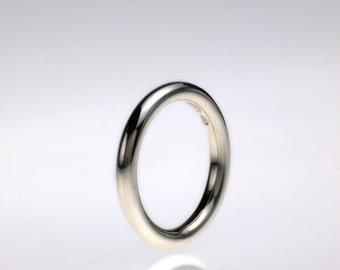 Spaghetti Wedding Band or Guard Ring in Sterling Silver