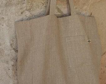 LARGE Natural LINEN Tote Bag, Large Tote Bag, Linen Shopping Bag, Market BAG, Beach Bag, Linen Bag, Eco Bag