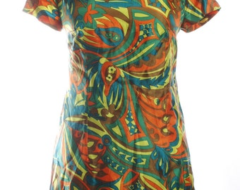 Vintage 1960's Handmade Shift Mini Dress 12 - www.brickvintage.com