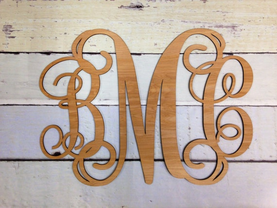 Wood Letters Large Wall Letters COMBO SCRIPT By