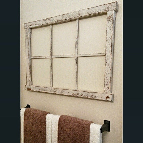 Faux Old Window Frame Chipped White Old By