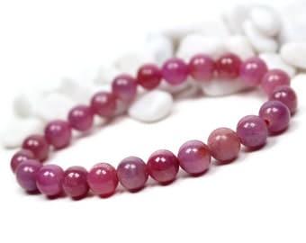 Genuine Ruby Bracelet - July Birthstone Bracelet, Ruby Jewelry, Womens Bracelet, Precious Gemstone Bracelet, Birthstone Crystal