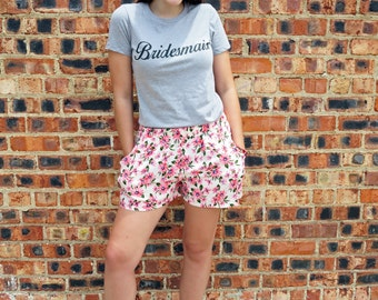 Bridesmaid Gray Screen Printed T-Shirt
