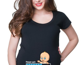 Pregnancy T-Shirt Gift For Pregnant Woman Cute Maternity Top Baby Announcement Tee Shirt