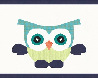 BABY OWL Quilt Pattern PDF Instant Download Paper Pieced Quilt Pattern Foundation Pieced Quilt Block Baby Quilt Pattern Owl quilt Pattern