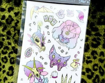 Pastel Witch Temporary Tattoos