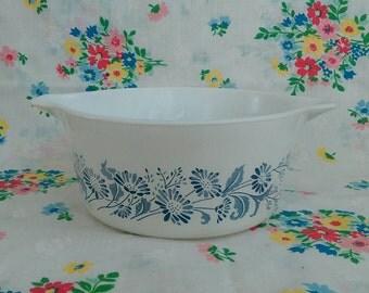 Vintage Pyrex Colonial Mist Round Casserole Dish #474-b 1.5 quart