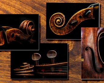 Cello Notecards, Music Gift, Stationery, Antique Cello