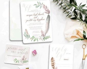 Native Love Custom Wedding Invitations Sample